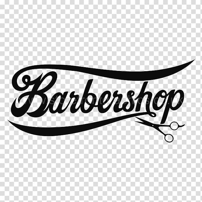Black Barbershop calligraphy illustration, Sticker Barbershop Wall.
