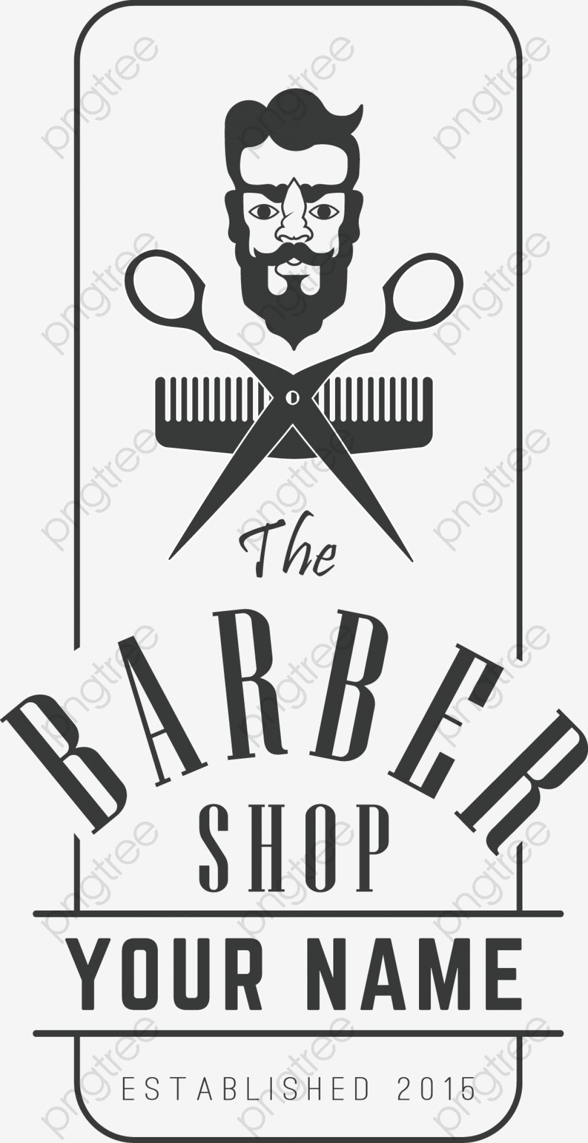 Vector Barber Shop Tools And Black Head, Vector, Decoration.