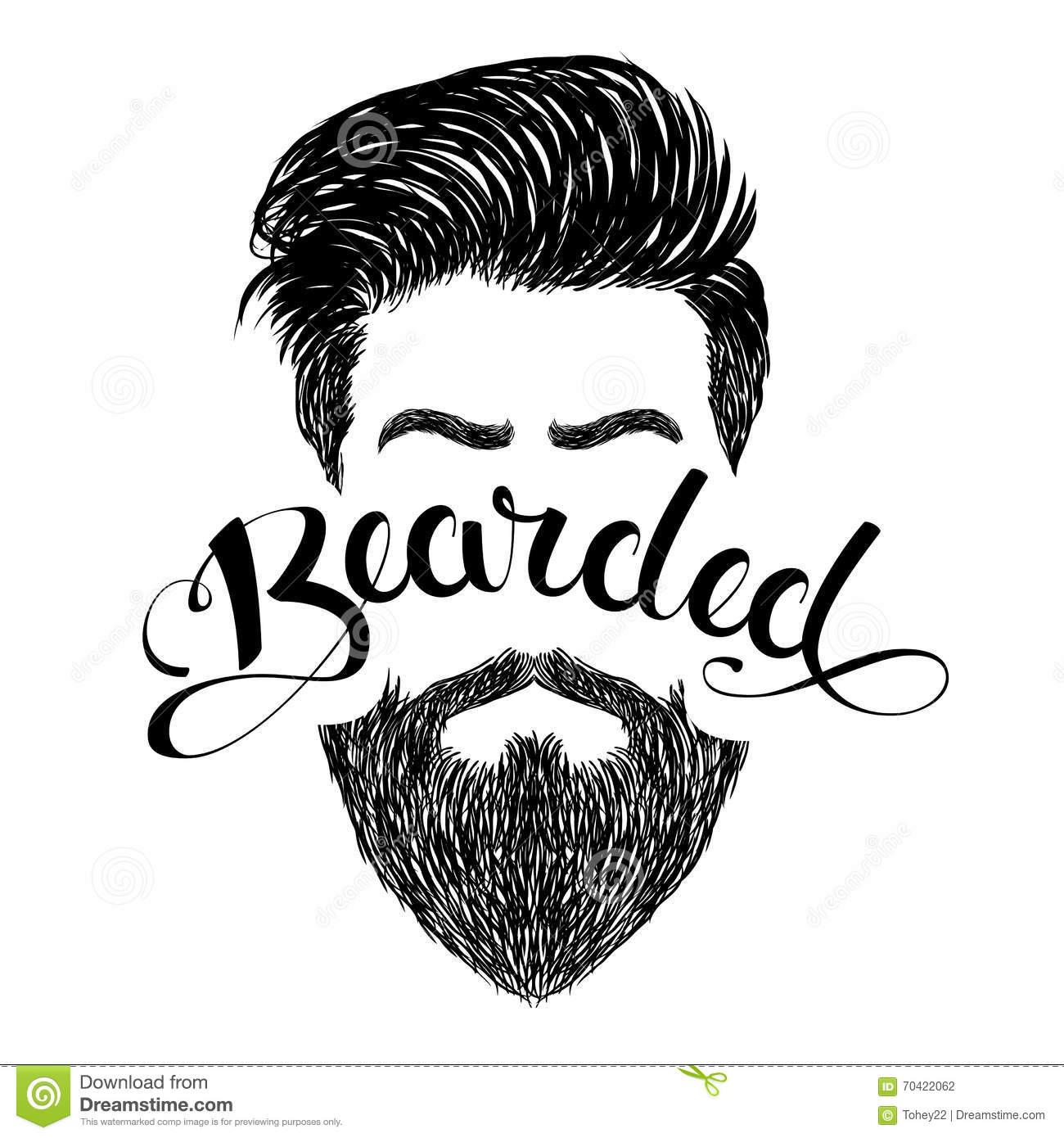 Logo bearded black stock vector. Illustration of letter.