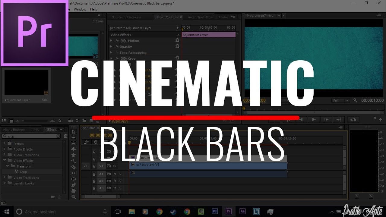 How To Add Cinematic Black Bars To Video In Premiere Pro.