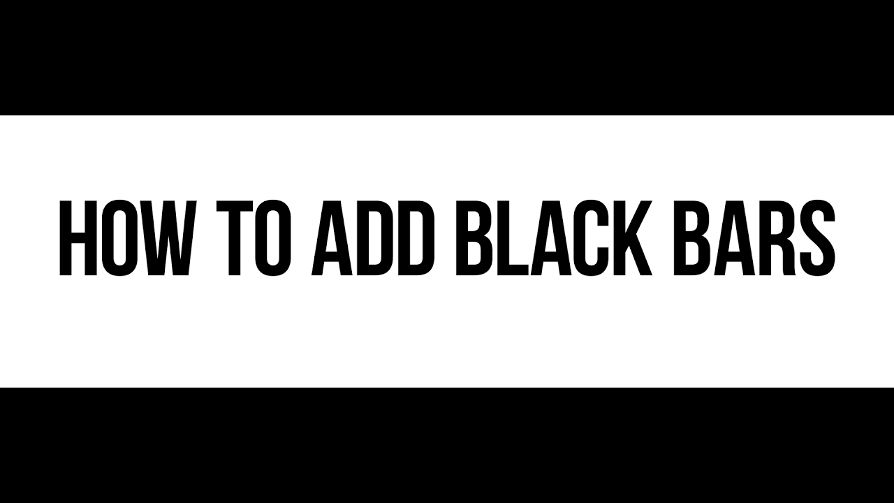 How to add cinematic black bars to your video in 59 seconds at $0.
