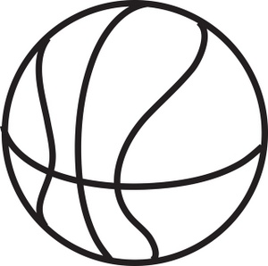Basketball Black And White Clipart.