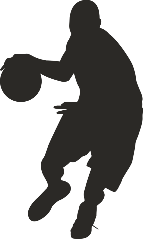black basketball clipart
