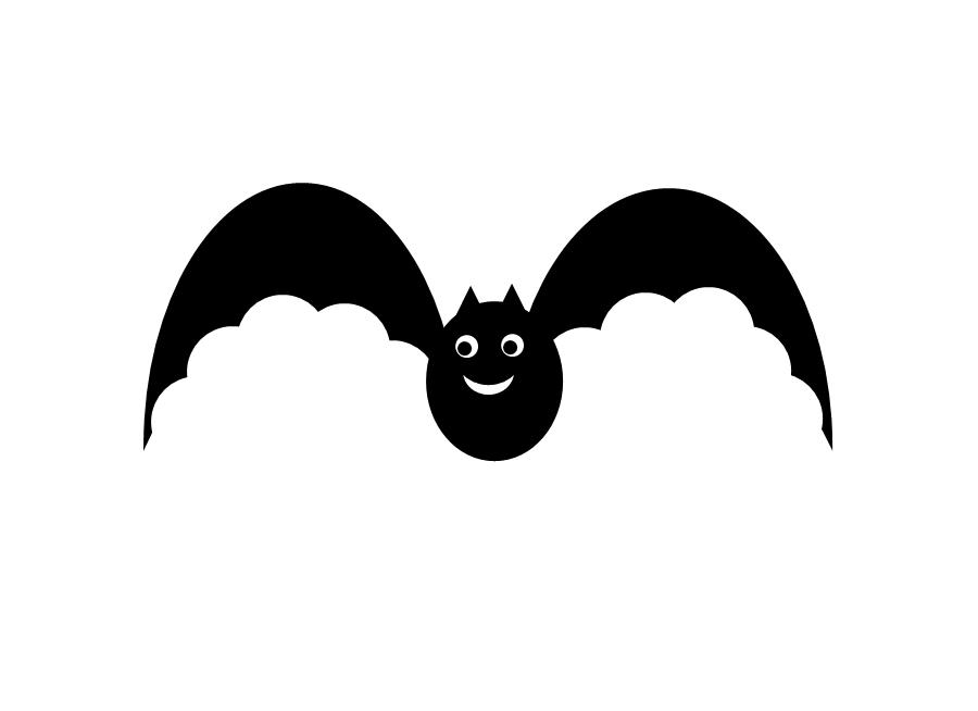 black bat clip art.