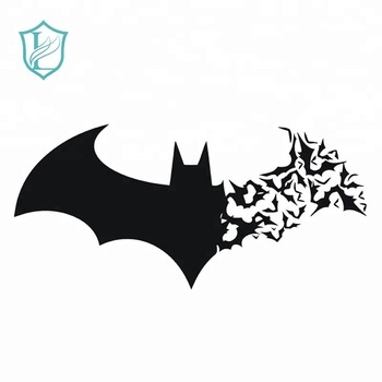 Factory Die Cut Waterproof Black Bat Shape Vinyl Stickers For Halloween.