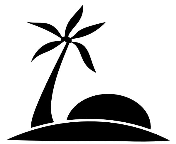 Beach Clipart Black And White & Beach Black And White Clip Art.