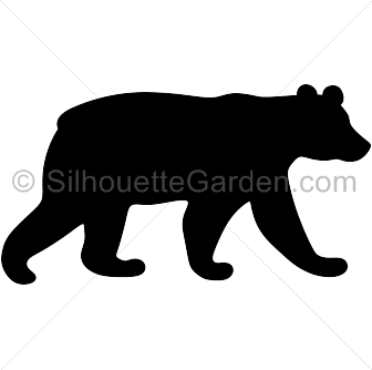 Black bear silhouette clip art. Download free versions of the.