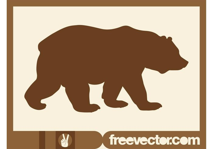 Walking Bear Silhouette.