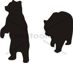 Bear Silhouette Standing.