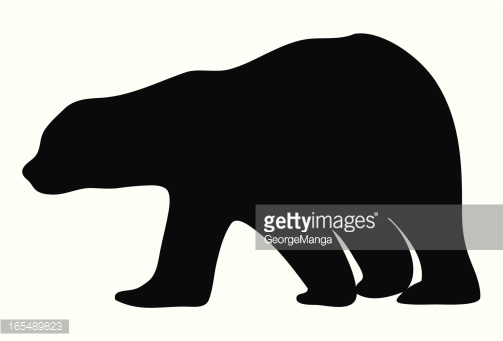 Polar Bear Silhouette Collection With Cub Vector Art.