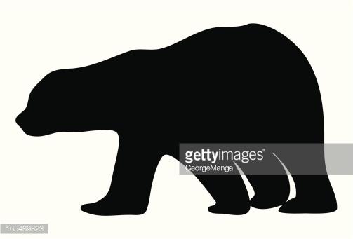 Polar Bear Silhouette Collection With Cub Vector Art.