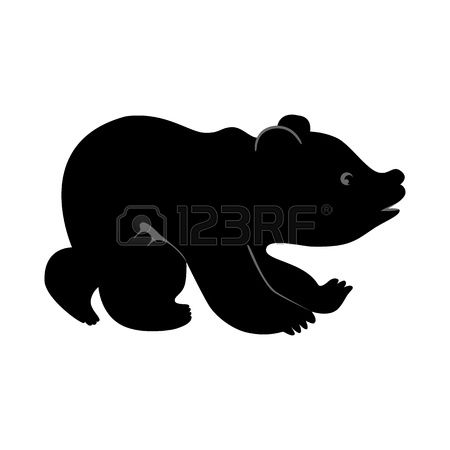black bear and cub silhouette clipart free - Clipground