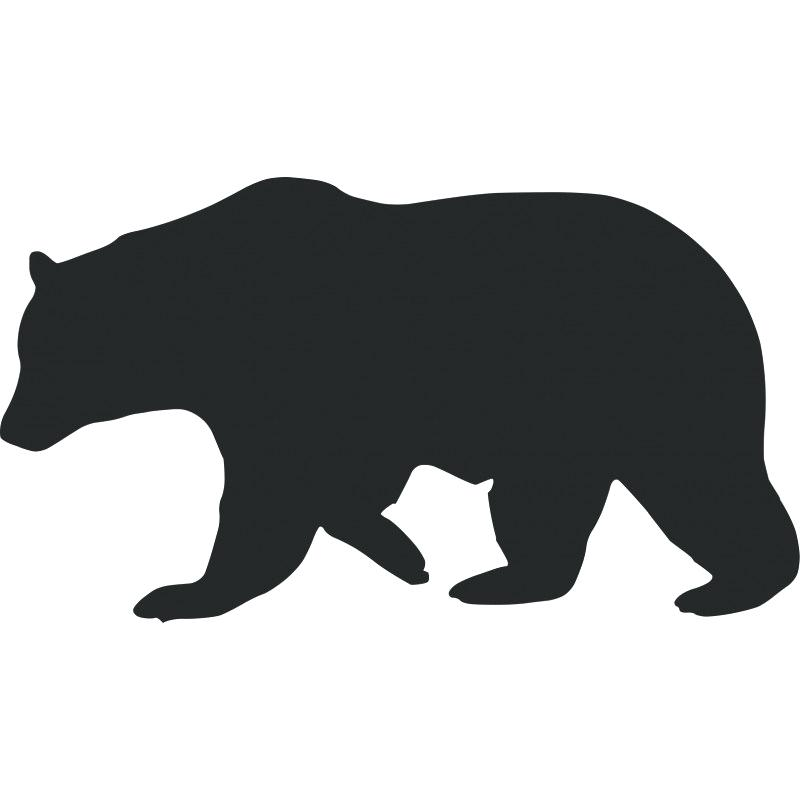 Black Bear Outline Black Bear Outline Image.