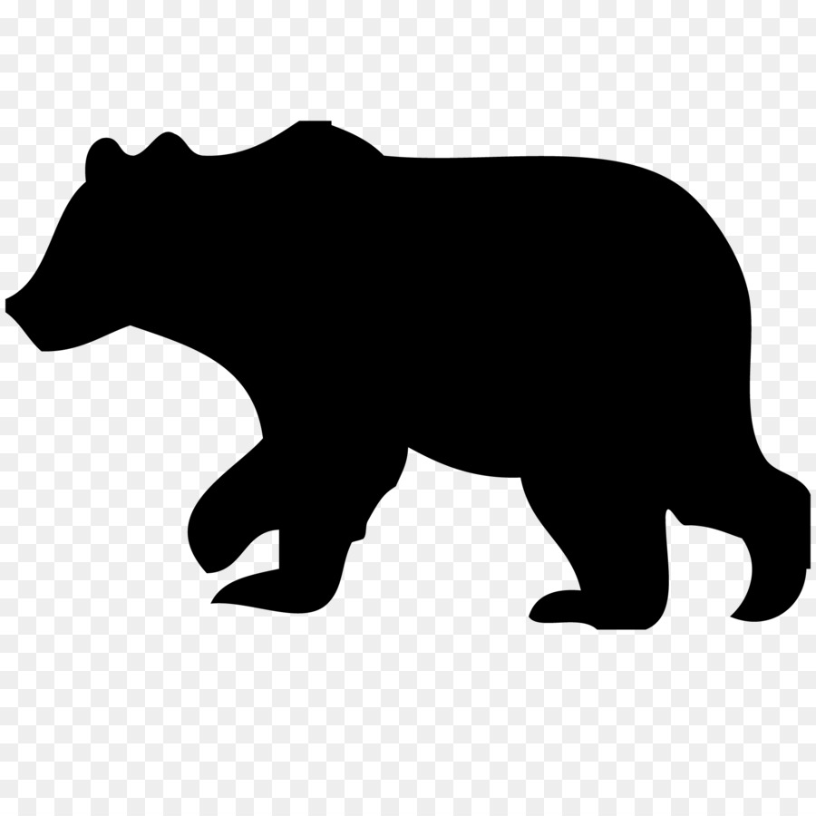 Download Free png American black bear Polar bear Silhouette Clip art.