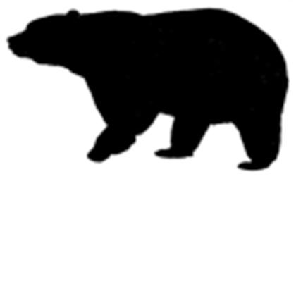 Free black bear clip art.