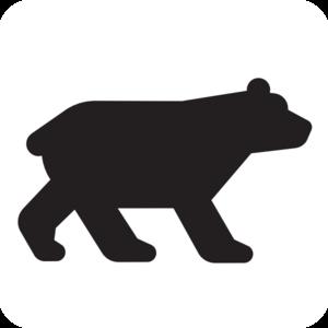 Black bear cub clipart.