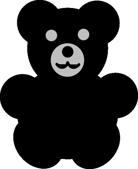 Black Bear Silhouette Clipart.