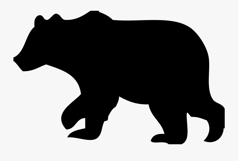 Black Bear Clipart Outline.