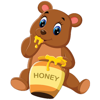 Bear With Honey Clipart.