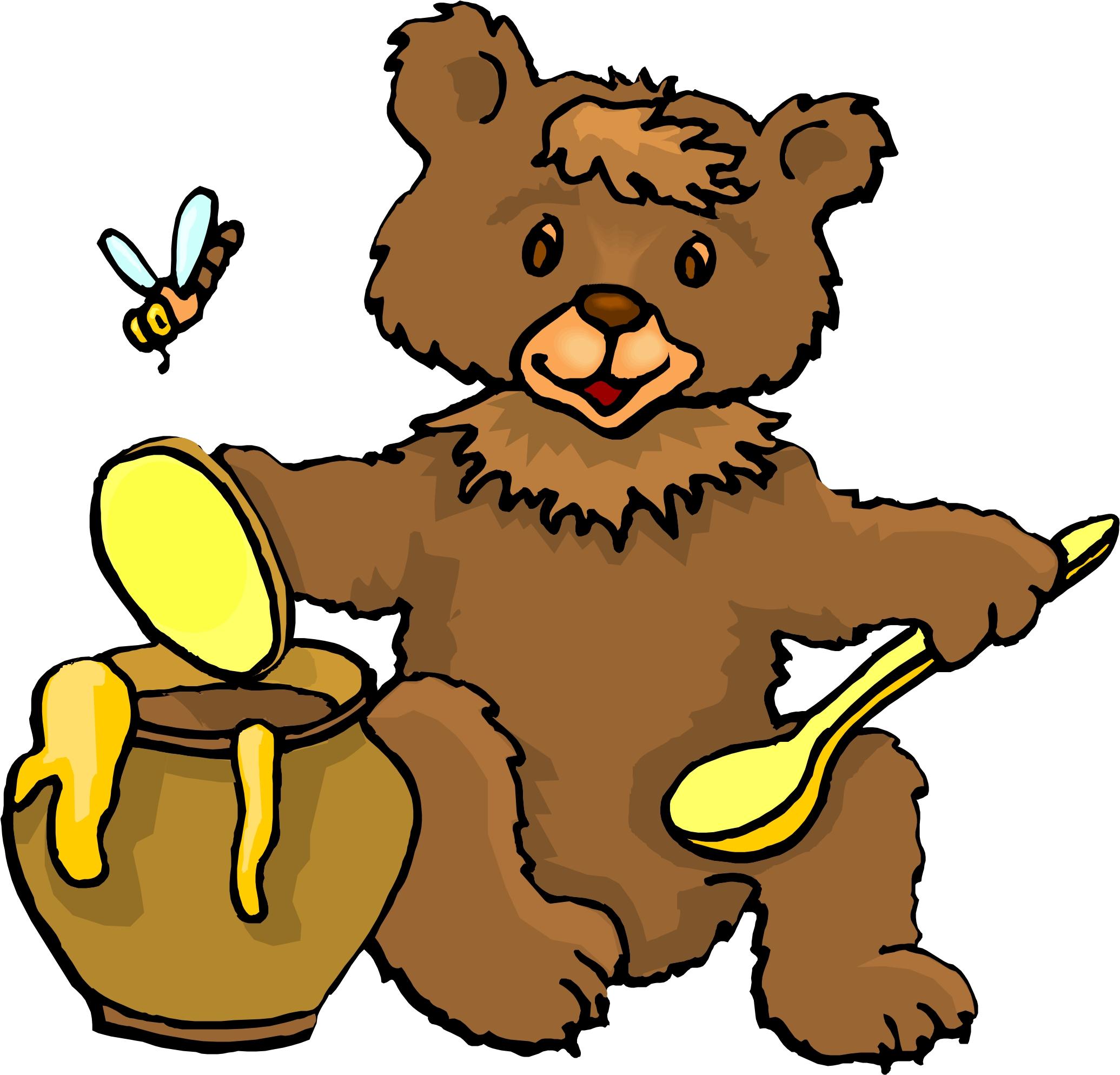 Bear Eating Honey Clipart.