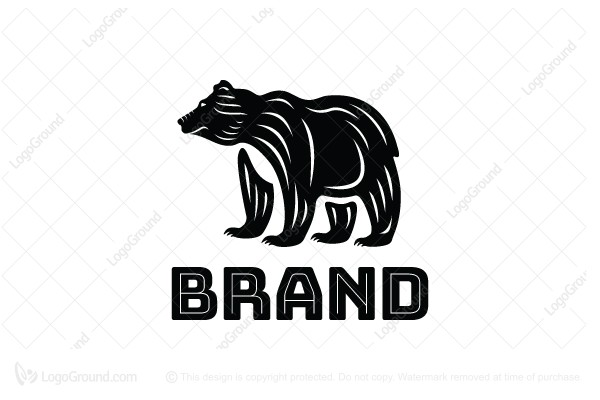 Exclusive Logo 119448, Grizzly Bear Logo.