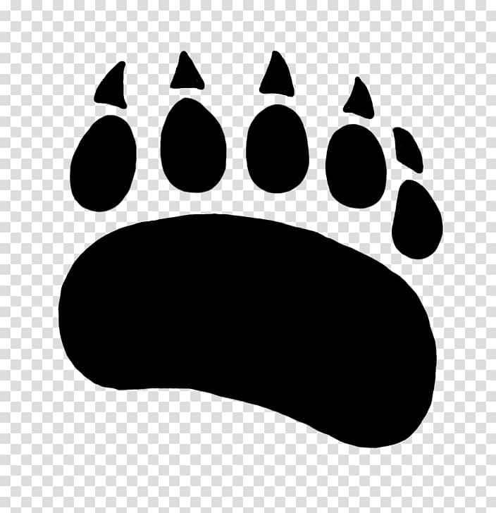 Polar bear American black bear Paw , cartoon bear printing.