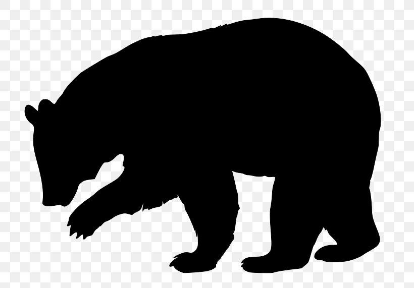 American Black Bear Brown Bear Silhouette Clip Art, PNG.