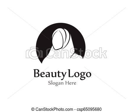 hijab vector black beauty logo.