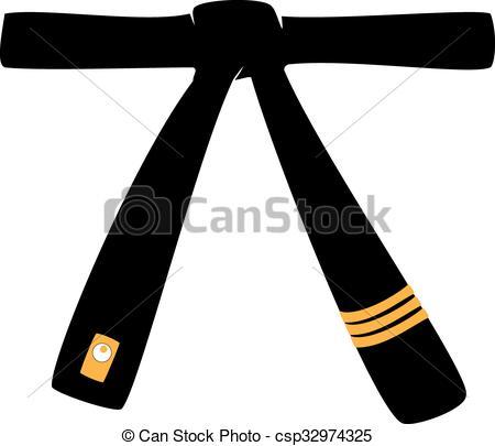Taekwondo belt clipart.