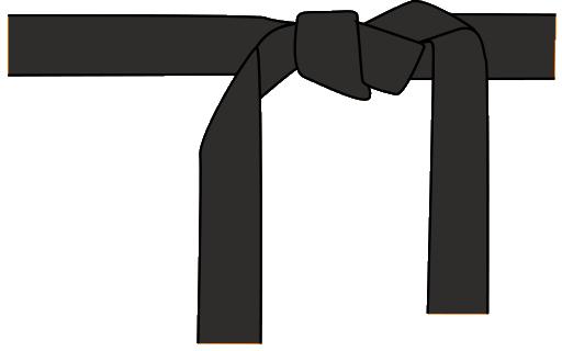 Black Belt Clipart.