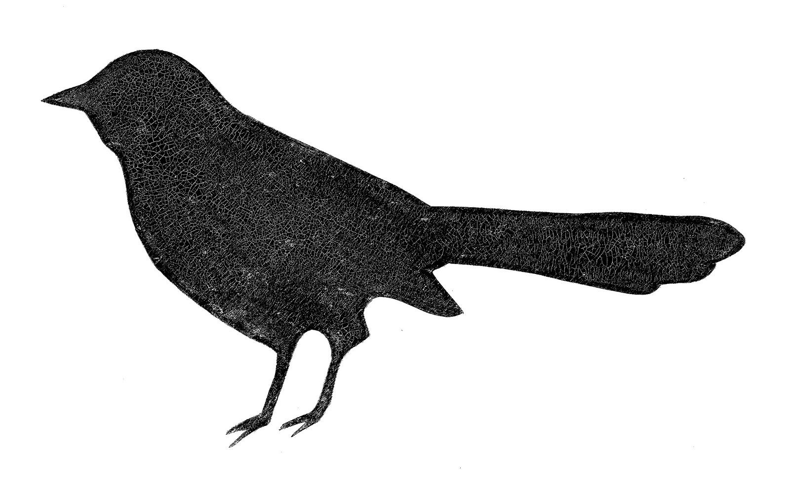 Black Bird Clip Art.