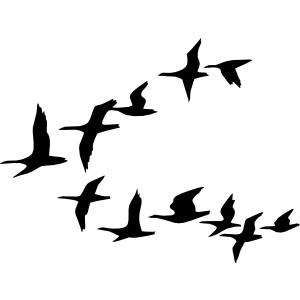 Black birds flying clipart.