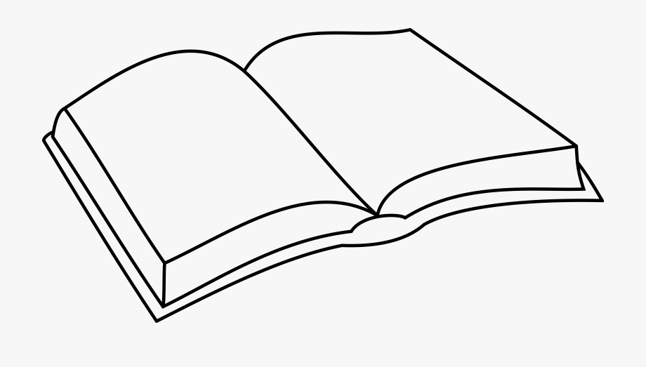 Book Black And White Open Book Clipart Black And White.