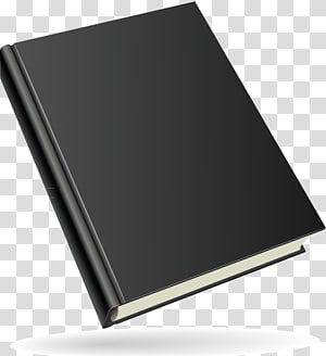 Book Cutouts, black covered book transparent background PNG clipart.