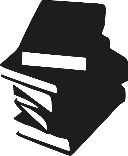 Stack of books clipart black and white free 3.