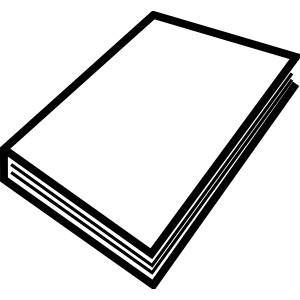 Open Book Clip Art Black And White.