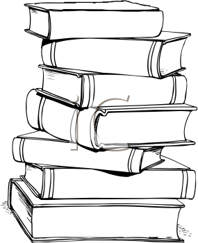 Tall Stack Of Books PNG Black And White Transparent Tall Stack Of.