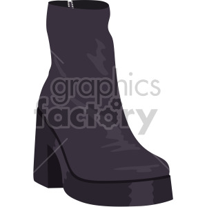 womans black boots clipart. Royalty.