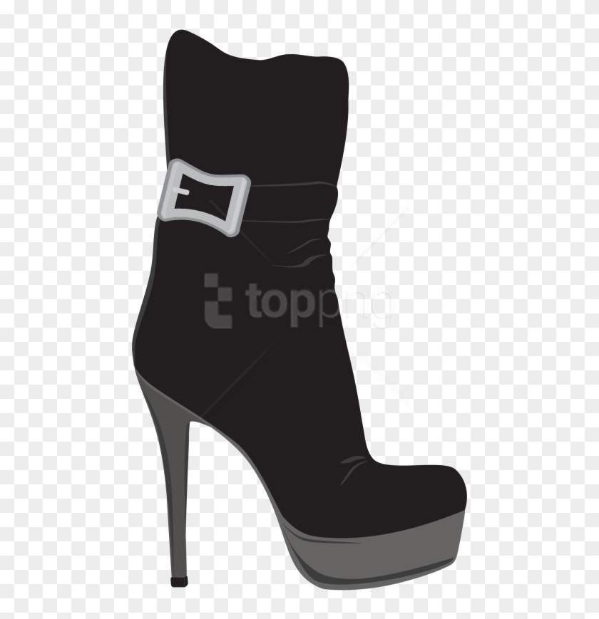 Download Black Female Boots Clipart Png Photo.