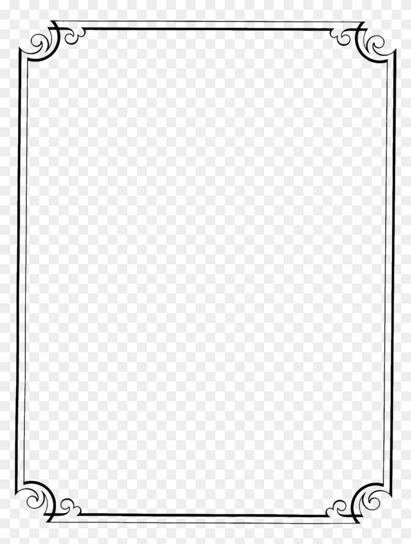Page Border Design In Black And White , Png Download.
