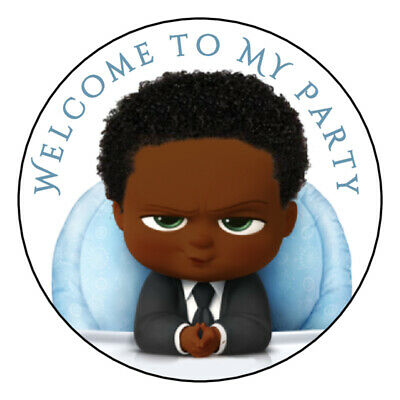 12 Favor Labels Boss Baby Birthday PartyThanks Shower Personalize custom?.