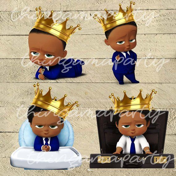 African American Business Baby Boy Royal Prince.