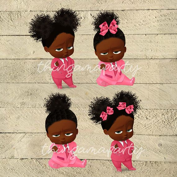 PINK African American Sassy Boss Baby Girl Babies of Color.
