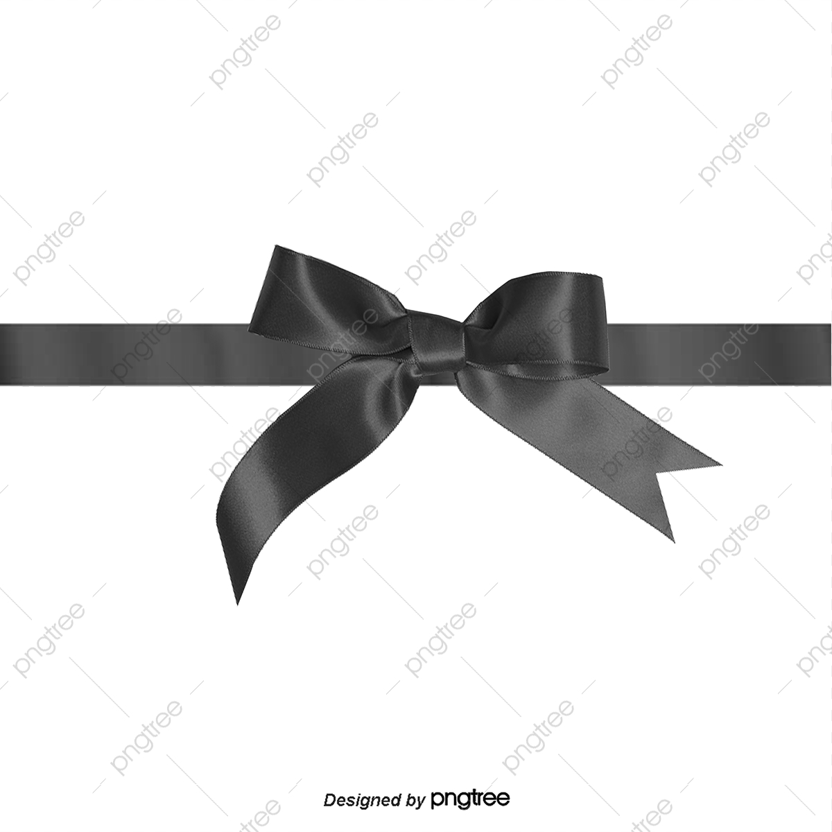 Vector Bow, Bow, Black, Ribbon PNG and Vector with Transparent.