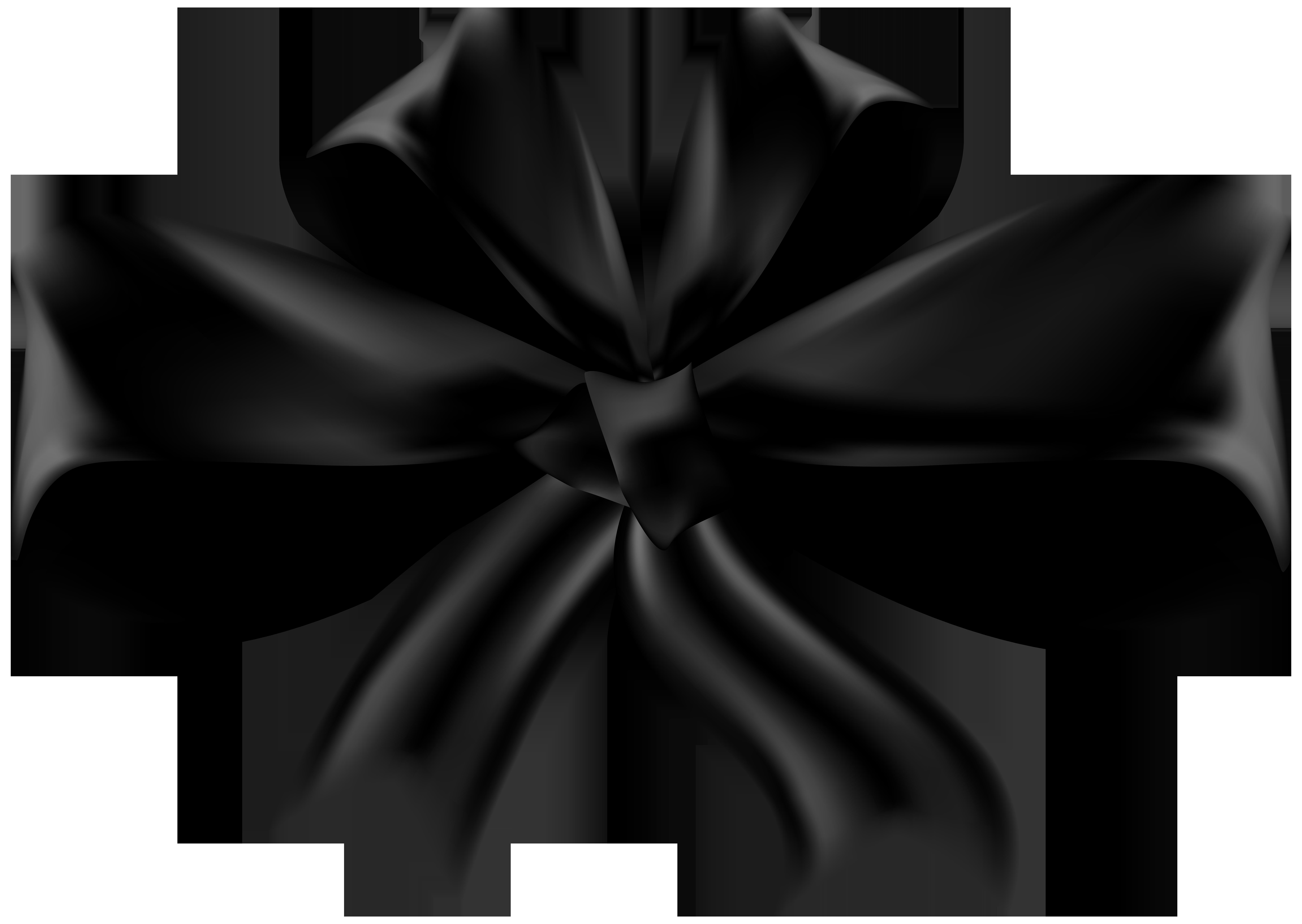Black Bow PNG Clip Art.