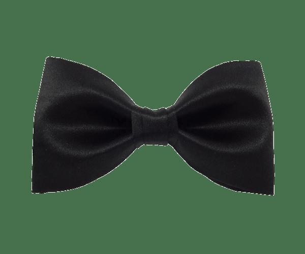 Classic Black Bow Tie transparent PNG.