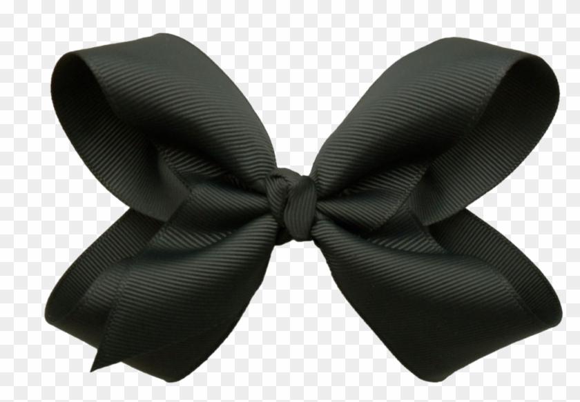 Black Bow Ribbon Png Background Image.