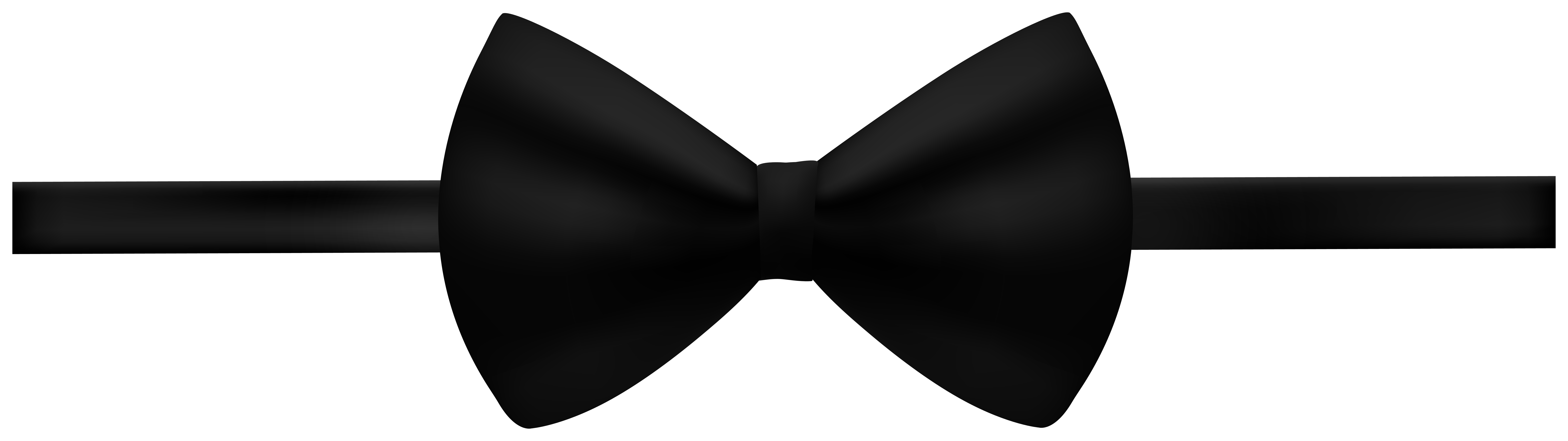 Black Bow PNG Clip Art Image.
