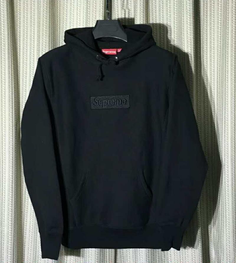 Black Box Logo Hooded Sweatshirt.