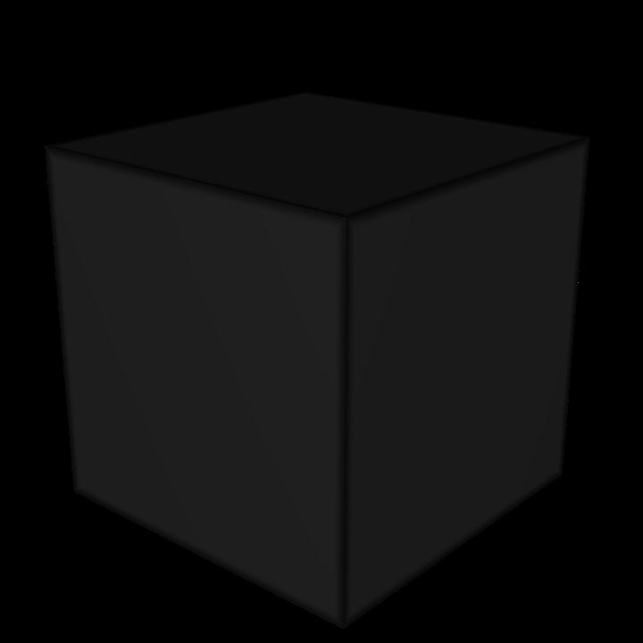 Cube Block Black.